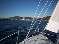Sailing Lake Coeur d'Alene in NW Idaho